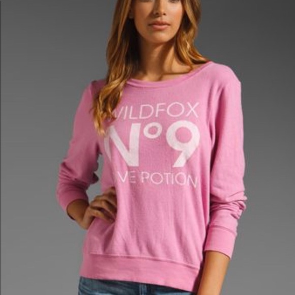 c464e8578a Wildfox love potion No9 baggy beach jumper in pink.  M_5b678c5a81bbc821e70a555d